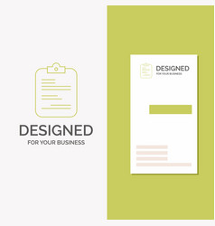 business logo for report medical paper checklist vector image