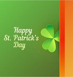 Card to Saint Patricks Day vector image