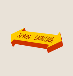 Catalonia exit from spain political process vector