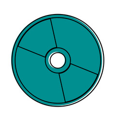 cd or compact disc icon image vector image