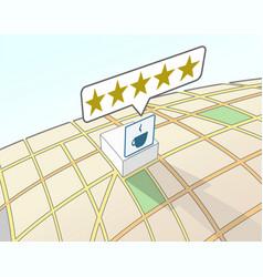Coffee shop top user rating vector