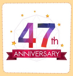Colorful polygonal anniversary logo 2 047 vector
