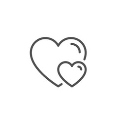 couple love line icon two hearts sign vector image
