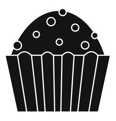 Cup cake icon simple style vector
