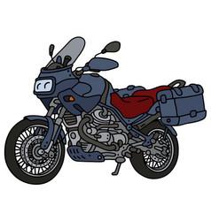 Dark blue motorcycle vector