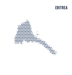 dotted map of eritrea isolated on white background vector image