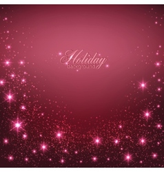 Elegant Christmas Red background with snowflakes vector image