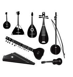 Ethnic music instruments set musical instrument vector