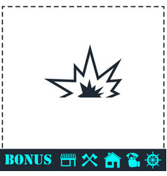 explosion icon flat vector image