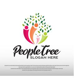 Family health care logo design vector