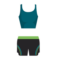 Female gym sport wear vector