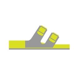 Flat Icon of Orthopedic Shoe Isolated on White vector image