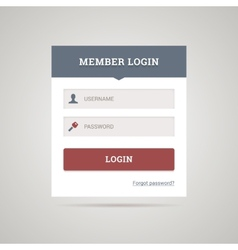 Flat login form vector