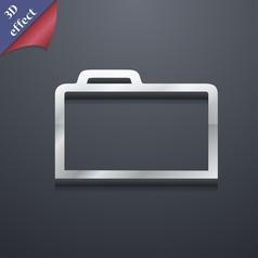 Folder icon symbol 3D style Trendy modern design vector