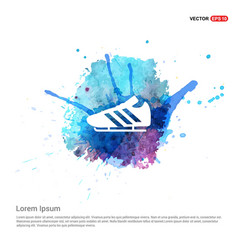 Football boot icon - watercolor background vector
