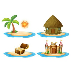 Four islands vector