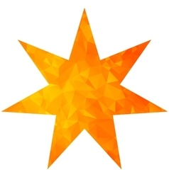 Gold triangle star seven pointed vector