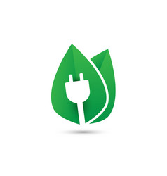 green plug power eco energy concept icon vector image