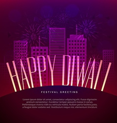 happy diwali greeting design with space for your vector image