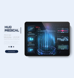 healthcare futuristic scanning in hud style vector image