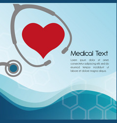 heart stethoscope medical equipment vector image