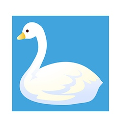 Icon swan vector