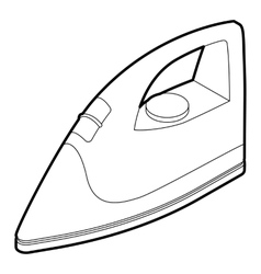 Iron icon in outline style vector