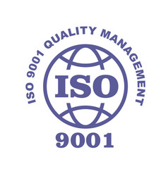 iso 9001 stamp sign - quality management systems vector image