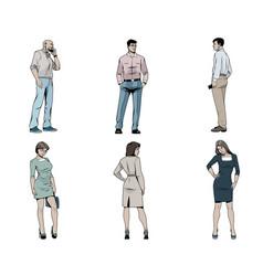 Men and women on white vector