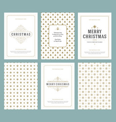 Merry christmas greeting cards templates and vector