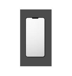 mobile phone blank mockup vector image