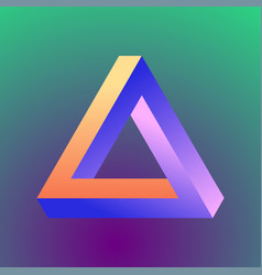 mobius triangle figure vector image