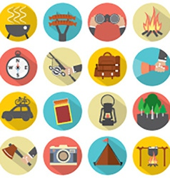 Modern Flat Design Camping And Outdoor Activity vector image