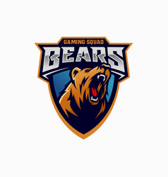 Modern professional grizzly bear logo vector