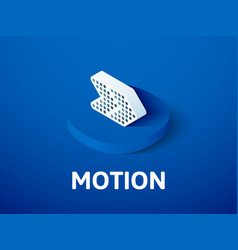 motion isometric icon isolated on color vector image