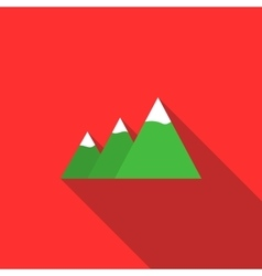 Mountains icon flat style vector image