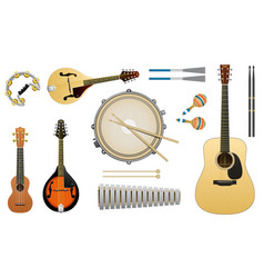 musical acoustic instruments string guitar vector image