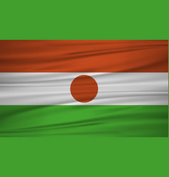 Niger flag flag of niger blowig in the wind eps vector