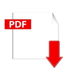 pdf download button vector image