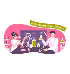 Perfume icons concept vector