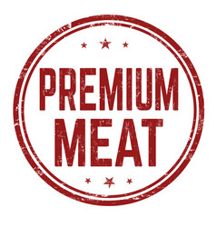 premium meat sign or stamp vector image