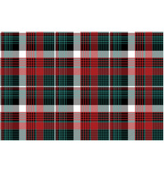red green check plaid seamless background vector image