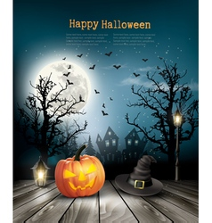 Scary Halloween background with a old paper vector
