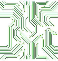seamless pattern circuit board technology vector image