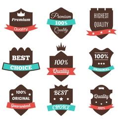 Set of vintage badges sale premium quality best vector