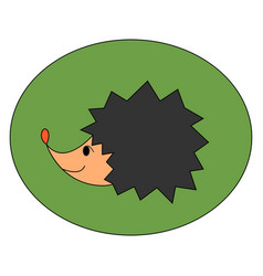 small cute hedgehog on white background vector image