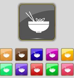 Spaghetti icon sign Set with eleven colored vector image