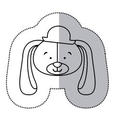 Sticker monochrome contour and half shadow with vector