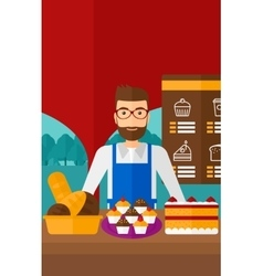 Successful small business owner vector image