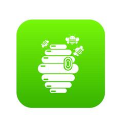 Swarm icon green vector
